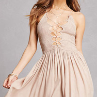 Boho Me Lace-Up Cami Dress