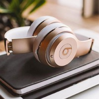 Beats Solo 3 Wireless Magic Sound Bluetooth Wireless Hands Headset MP3(Music Headphone with Microphone Line-in Socket TF Card Slot) Champagne gold B