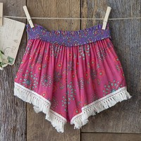 Pink  &  Cream  Indie  Print  Lounge  Shorts  From  Natural  Life
