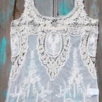Hippie Cowgirl Lace Tank   Elusive Cowgirl