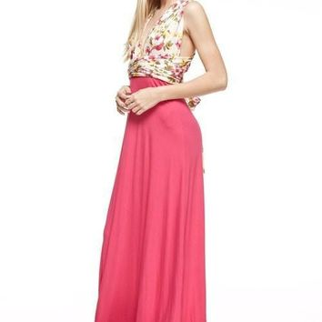 Against All Odds Floral Wrap Maxi Dress