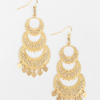 Urban Outfitters - Crescent Moon Chandelier Earring