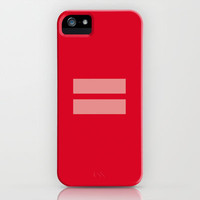 Equality Symbol Red iPhone Case by RexLambo