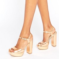 Missguided Platform Heeled Sandals at asos.com