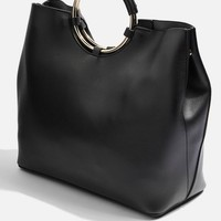 Metal Handle Tote Bag - Bags & Wallets - Bags & Accessories