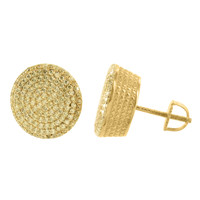 Mens Gold Finish Earrings