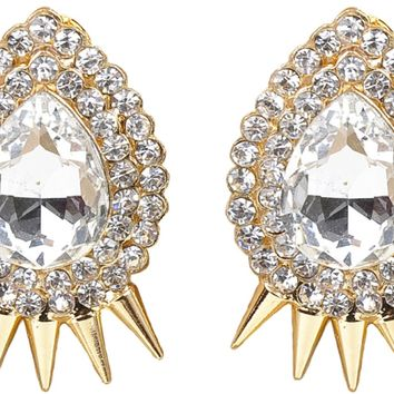 Gatsby Collection Spikey Pear Earrings