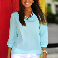 HOPE'S: The Color Of Hope Top: Mint | Hope's
