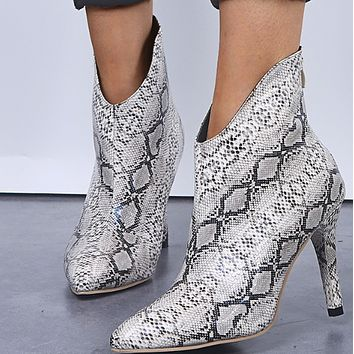 New sexy all-in-one metallic pointy boots for women  shoes