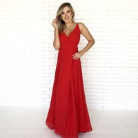 Swept Off My Feet Maxi Dress In Red