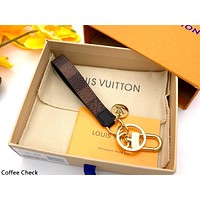 LV 2019 new simple wild keychain Coffee Check