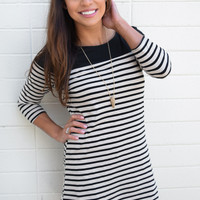 Modern Muse Striped Tunic