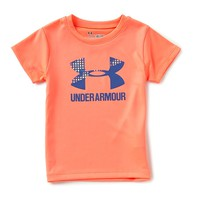 Under Armour Little Girls 2T-6X Terra Split Big Logo Short-Sleeve Graphic Tee | Dillards
