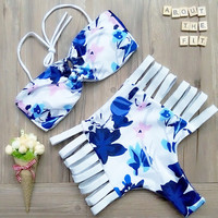 Sexy Bathing Swimming Suit Push Up Swimwear Top High Waist Plus Size Bikini Set