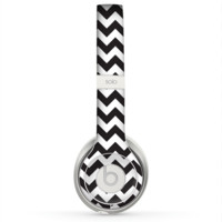The Black & White Chevron Pattern Skin for the Beats by Dre Solo 2 Headphones