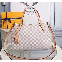 LV Louis Vuitton DAMIER CANVAS LYMINGTON HANDBAG SHOULDER BAG