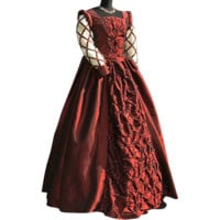 Burgundy Medieval Ball Gown - MCI-117 by Your Dressmaker, Custom Medieval Clothing