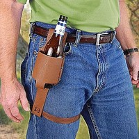 Beer Holster Novelty Belt Accessory for the Rugged Man - One Size Fits Most