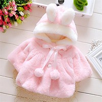 Baby girl jackets girls outerwear coats coats winter kids jacket Velour fabric lovely Bow coat baby girl clothes