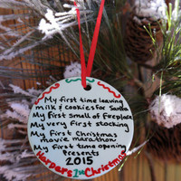Babys First Christmas Ornament, Christmas Gift, Personalized New Baby Christmas Gift, New Parents Gift, New Baby Gift