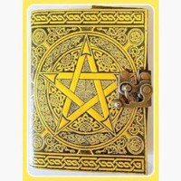 Pentagram Latched Leather Journal
