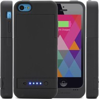 i-Blason Apple iPhone 5C PowerGlider [MFI APPROVED] Rechargeable External Battery Full Protection Case [iOS 7 Compatible] with Micro 5 Pin USB Charging Port - AT&T, Sprint, Verizon. T-Mobile (White)