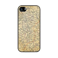 Vintage maps phone case-Hard plastic case for iphone 6