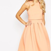 ASOS PETITE Debutante Crop Top Midi Scuba Dress