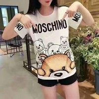 Moschino bear short sleeves T-shirt printing H-spring-CLFSGCJDZ