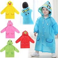 Kids Waterproof Animal Raincoat 1pcs