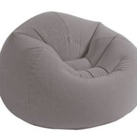 "Intex Beanless Bag Inflatable Chair, 42"" X 41"" X 27"", Beige"
