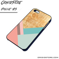 Wood Pattern Chevron Again Case For Iphone 4/4S Case