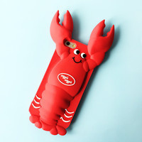 Red 3D Lobster Phone Case Cover For Iphone7 Iphone 5 5S Se 6 6S 6Plus 6S Plus