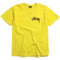 Stock Pigment Dyed T-Shirt Lime