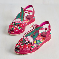 Bird Flock and Stroll Sandal by Miss L Fire from ModCloth