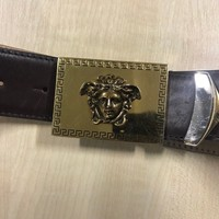 Authentic Versace Collection Size 100 Men's Belt Brown Leather