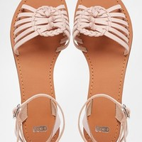 ASOS FAITHFUL Leather Woven Sandals