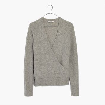 Wrap-Front Pullover Sweater