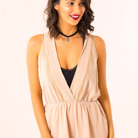Autumn Harvest Romper in Taupe