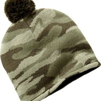 Camo Sweater Beanies for Baby