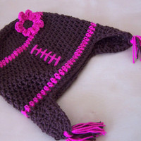 girl football hat, baby girl clothes, cute baby clothes