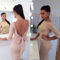 High Waist Women's Fashion Sexy Backless Butterfly One Piece Dress [9324634372]