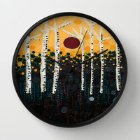 :: Red Moon Love Song :: Wall Clock by :: GaleStorm Artworks ::