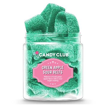 Candy Club-Green Apple Sour Belts