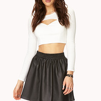 Street-Femme Faux Leather Skirt