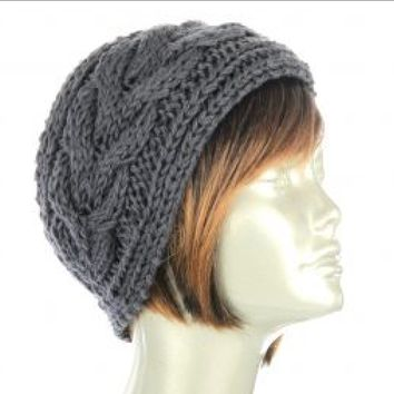 Amazing Quality! Hand Knit Headband Ear Warmers.Extra Plush Thick Braided Cable Knit Headband Will Keep Your Ears Toasty Warm and in Style. - GreyStoked Ear Warmer