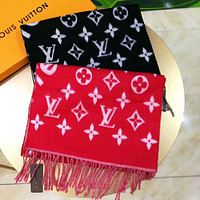 Inseva Louis Vuitton LV Winter Stylish Women Men Comfortable Cashmere Cape Tassel Scarf Scarves Shawl Accessories