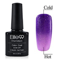 Chameleon Temperature Changing Colour Nail Lacquers Soak Off UV LED Gel Polish Pearl Purple - Orchid