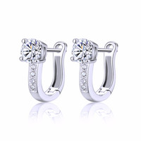 U Type Silver Color Earrings