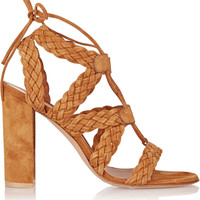 Gianvito Rossi - Braided suede sandals